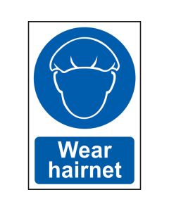 Wear Hairnet Sign