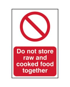 Raw and Cooked Foods Sign