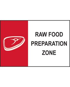 Raw Food Preparation Sign