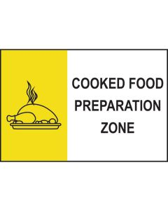 Cooked Food Preparation Sign