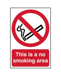 No Smoking Area Sign