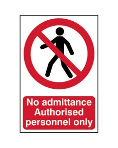 No Admittance / Personnel Only Sign