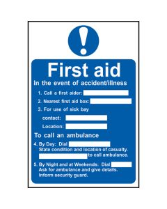Event Of Accident Sign