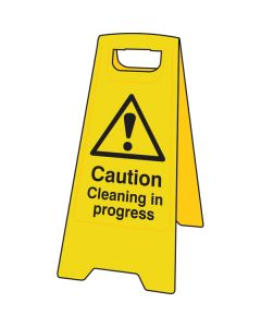 Cleaning In Progress A-Board Sign