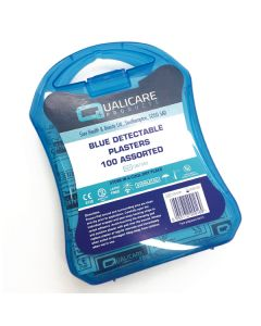 Qualicare Box of 100 Assorted Detectable Plasters