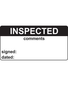 Inspected & Comments Labels