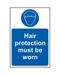 Hair Protection Must Be Worn Sign