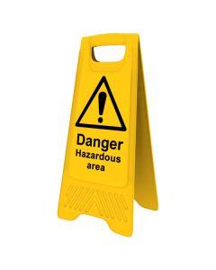Hazardous Area A-Board Sign