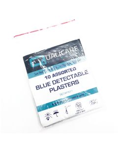 Qualicare Assorted Pouch of 10 Detectable Plasters